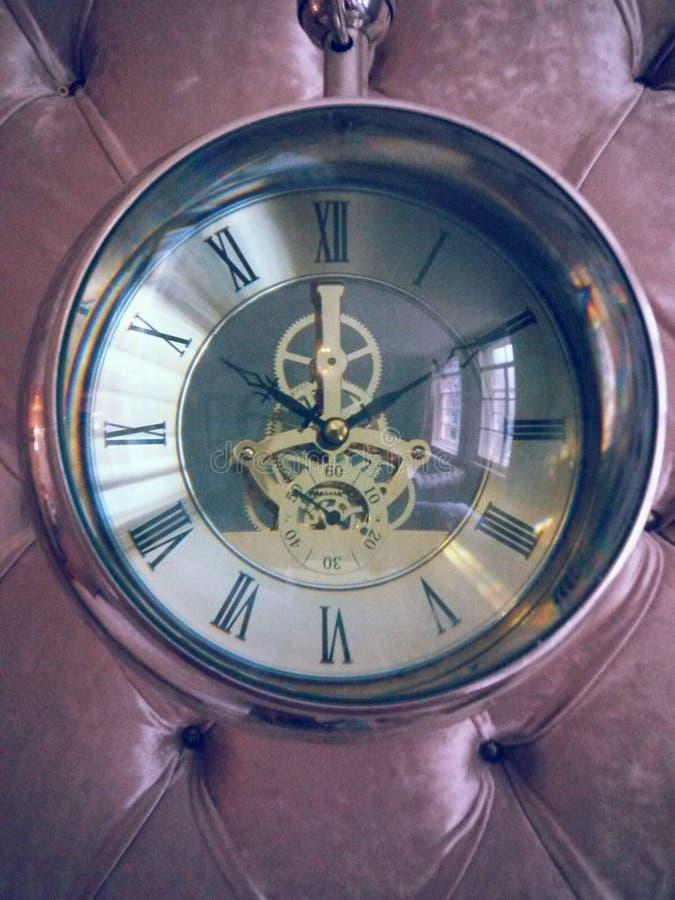 Click. Giant pendulum clock royalty free stock photo