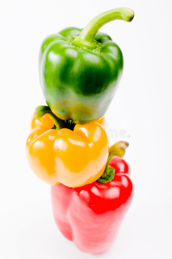 Giant peppers royalty free stock photography