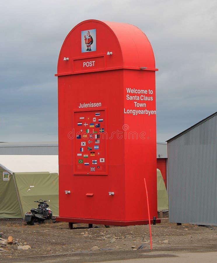 Giant post box, Longyearbyen, Svalbard, Norway royalty free stock images