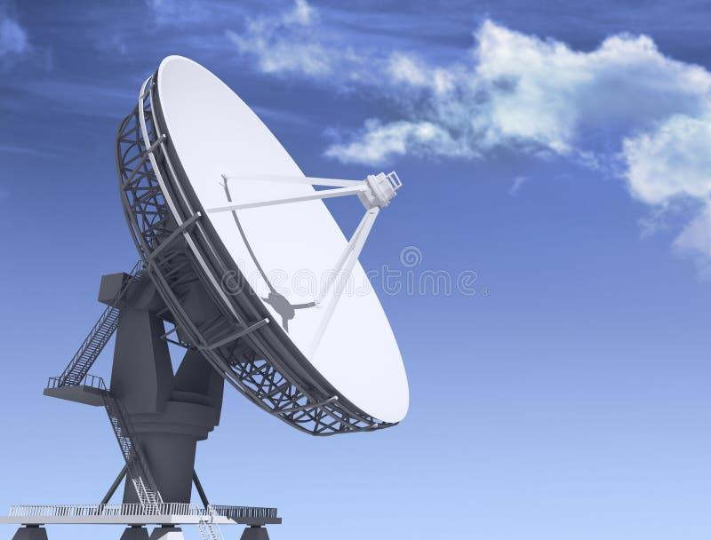 Giant radio telescop royalty free illustration