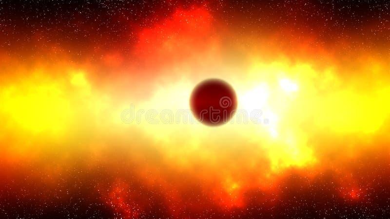 Giant red star vector illustration