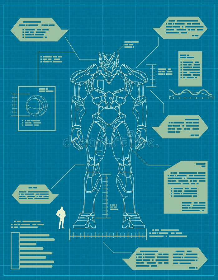 Free Giant Robot Blueprint Royalty Free Stock Photo - 160920905