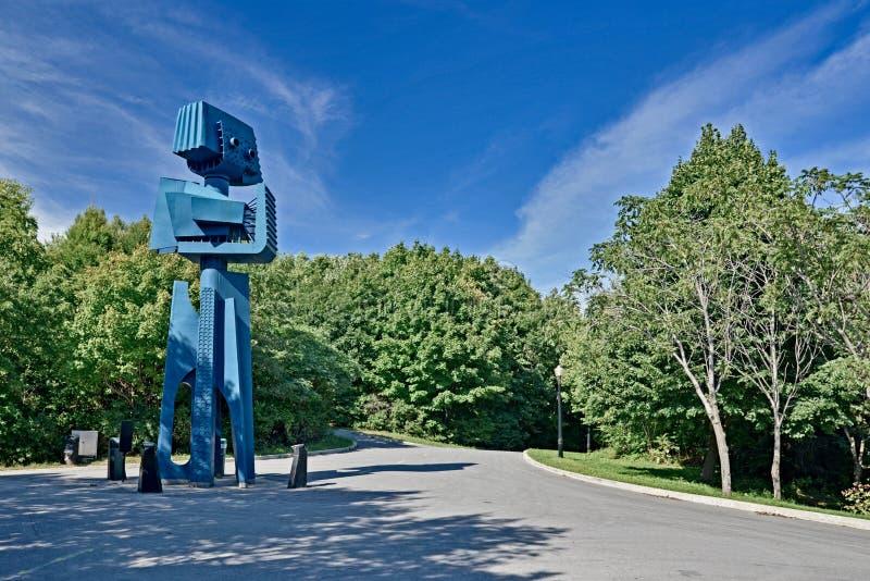 Giant robot sculpture of Expo `67 stock photo