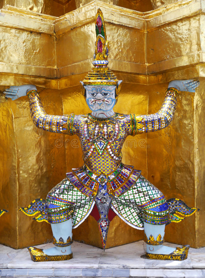 Giant In The Royal Grand Palace - Bangkok Thailand Royalty Free Stock Photo