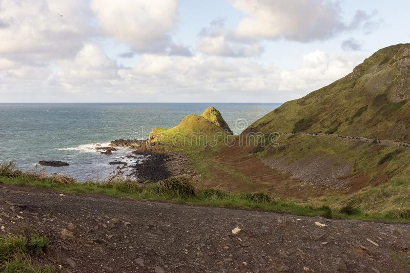 Giant`s Causeway afternoon view, Northen Ireland, United Kingdom royalty free stock photography