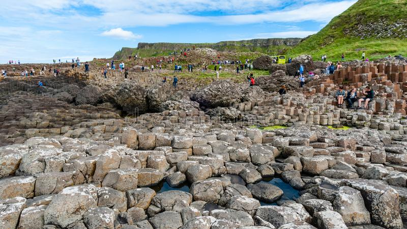 Giant`s Causeway - Bushmills - Northern Ireland. Giant`s Causeway is located in Bushmills Northern Ireland. Made up of octagonal shaped pillars, and is one of royalty free stock photography