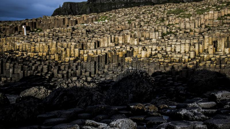 Giant`s Causeway. Northern Ireland Great Britain hexagon paradise royalty free stock photography