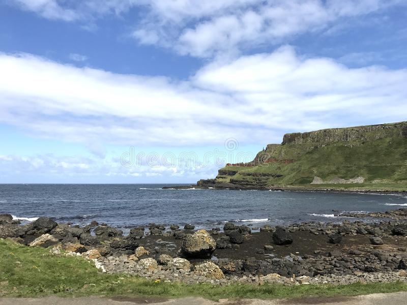 Giant`s Causeway in Norther Ireland, Europe. Giant`s Causeway in Northern Ireland, Europe landscape royalty free stock image