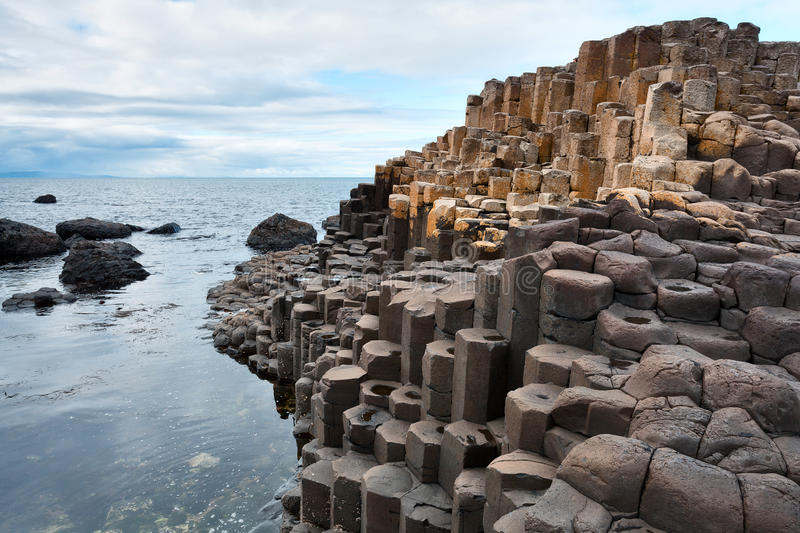 Giant's causeway, Northern Ireland coast stock photo