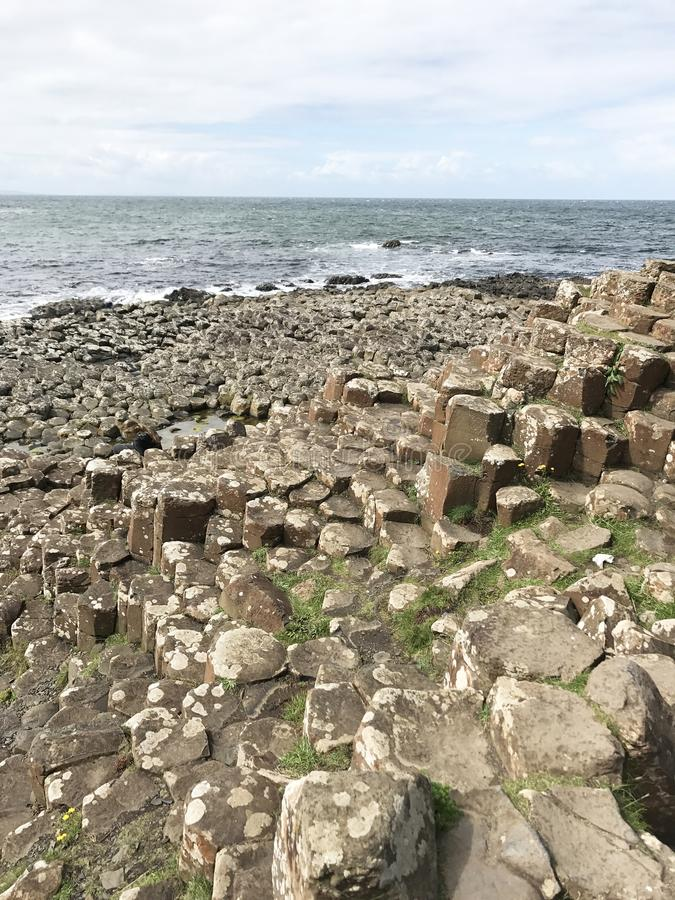 Giant`s Causeway in Norther Ireland, Europe. Giant`s Causeway in Northern Ireland, Europe landscape stock images