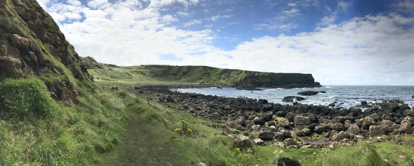 Giant`s Causeway in Norther Ireland, Europe. Giant`s Causeway in Northern Ireland, Europe landscape royalty free stock images