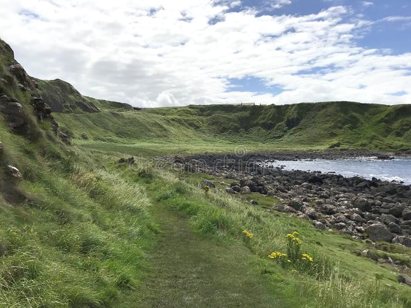 Giant`s Causeway in Norther Ireland, Europe. Giant`s Causeway in Northern Ireland, Europe landscape royalty free stock photography