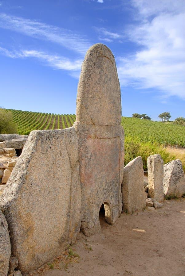 Giant's Grave, Sardinia, Italy stock image