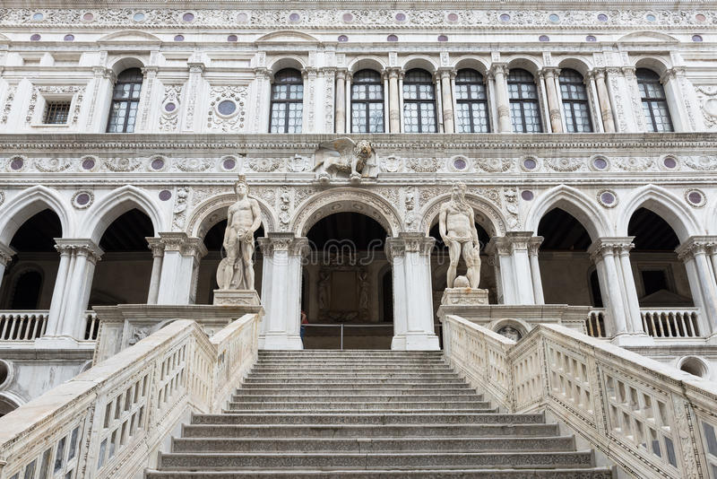 Giant's Stairway of the Doge's Palace, Venice stock image