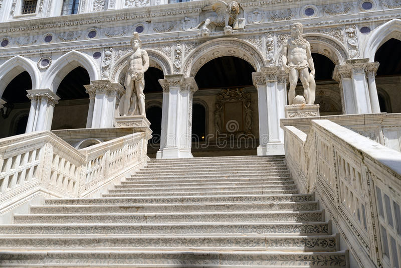 Giant's Stairway of the Doge's Palace, Venice. Italy stock photography