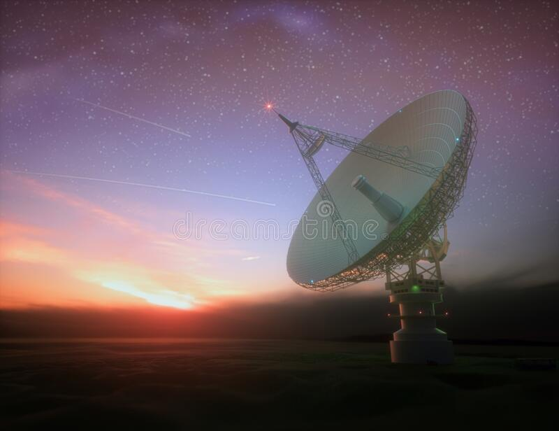 Giant Satellite Dishe for Signal From Galaxy royalty free stock photos