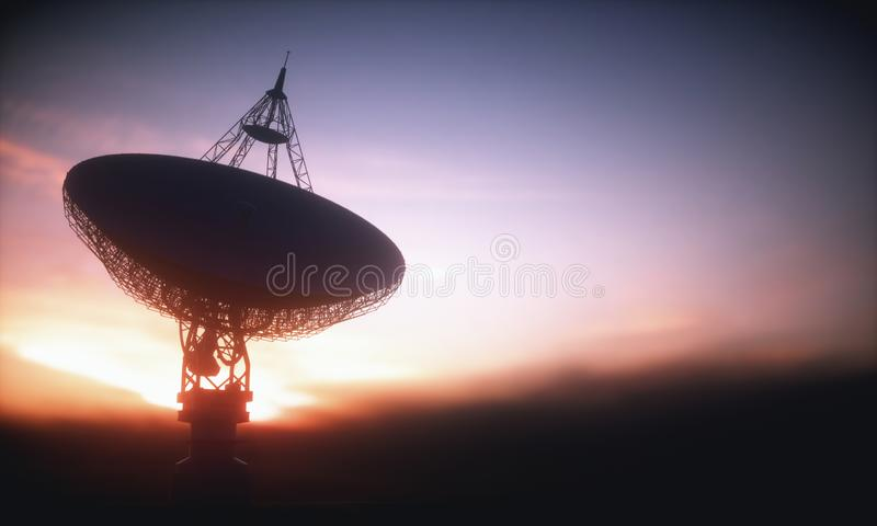 Giant Satellite Dishe for Signal royalty free stock photo