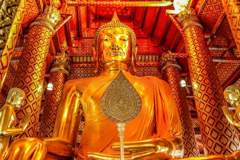 Giant sitting buddha Wat Phanan Choeng temple Ayutthaya. Giant sitting buddha Wat Phanan Choeng temple royalty free stock images