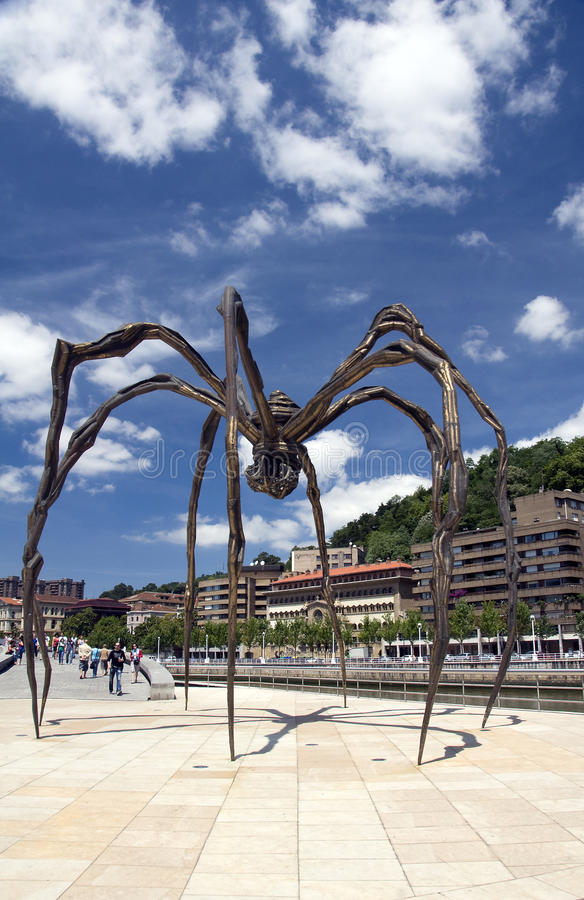 The Giant Spider, Bilbao, Spain Editorial Stock Photo
