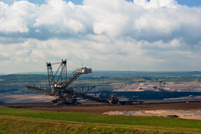 Download Giant Spreader In An Open Pit Stock Image - Image: 10886573