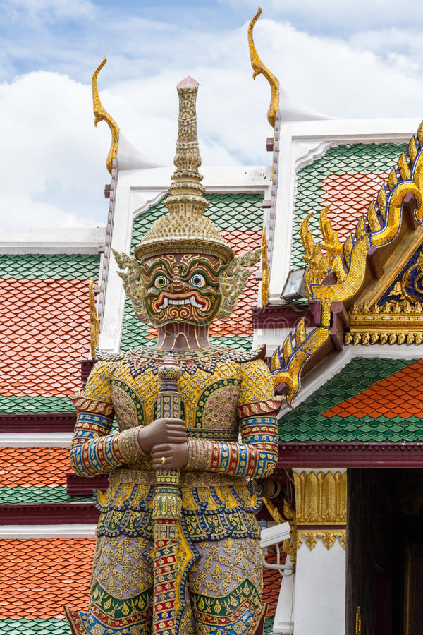 Giant Stand. At Grand Palace Bangkok Thailand stock image
