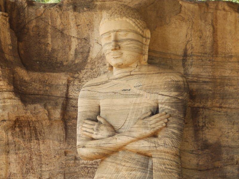 Giant statue of Buddha. Sri Lanka royalty free stock photography