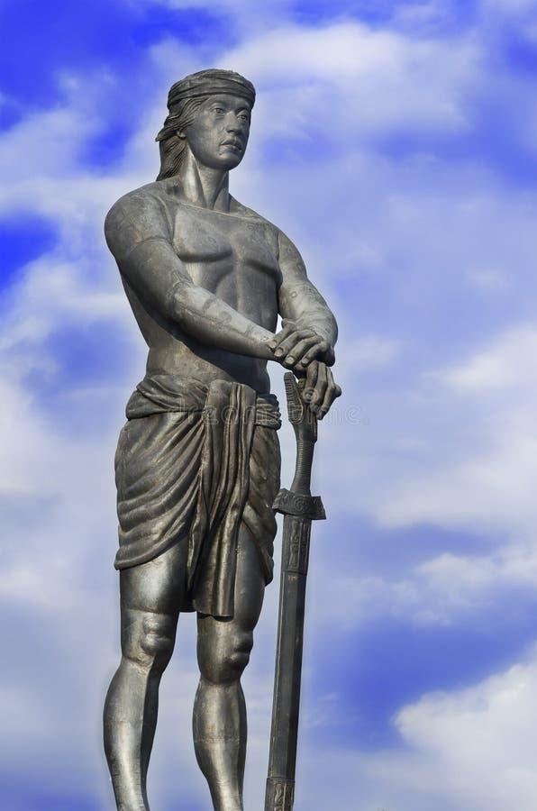 Giant Statue of Lapu-Lapu royalty free stock image