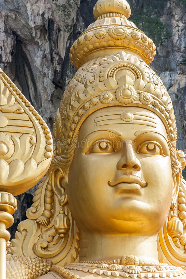 Giant statue of Murugan at the Batu Caves near Kuala Lumpur. Malaysia stock images