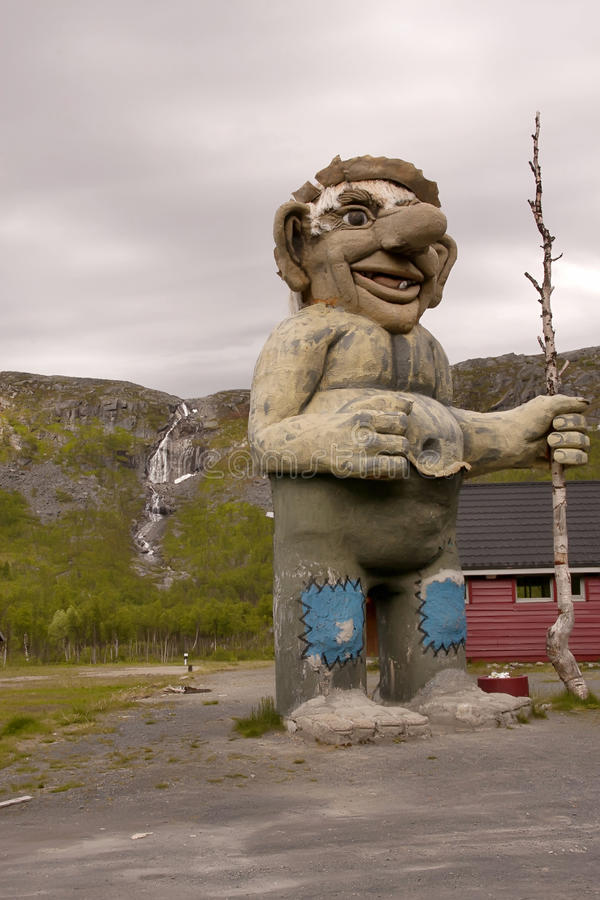 giant statue of a troll, Norway stock images