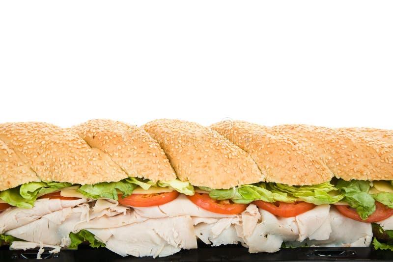 Giant Sub Sandwich Border royalty free stock images