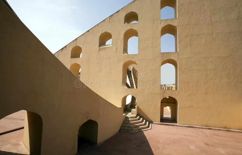 Giant sundial of the Jantar Mantar Observatory in Jaipur stock photography