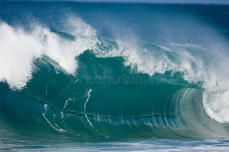 Giant surf waves at Oahu royalty free stock photography