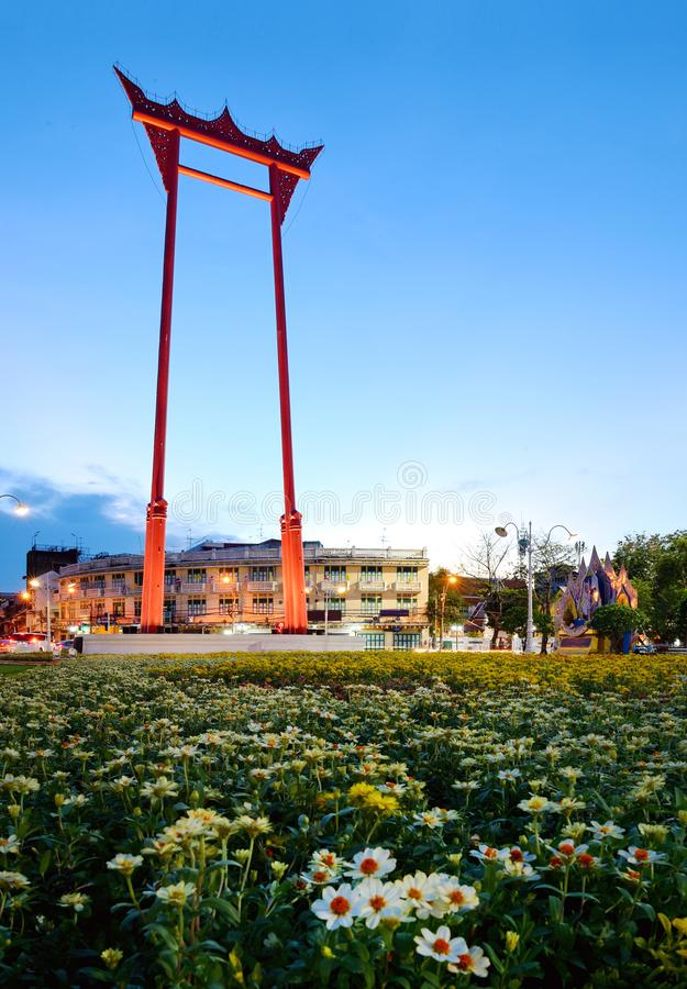 The Giant Swing  is a religious structure in Bangkok. The Giant Swing is a religious structure in thailand stock photos