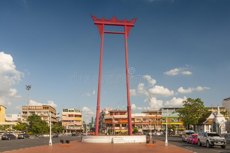 The Giant Swing, Sao Ching Cha, Bangkok, Thailand.  royalty free stock images