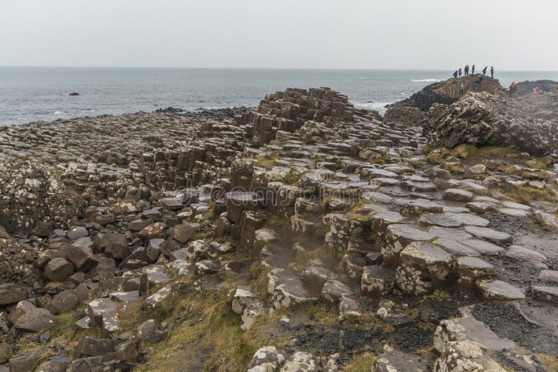 Giant' terraplén de s - Irlanda del Norte imagen de archivo libre de regalías