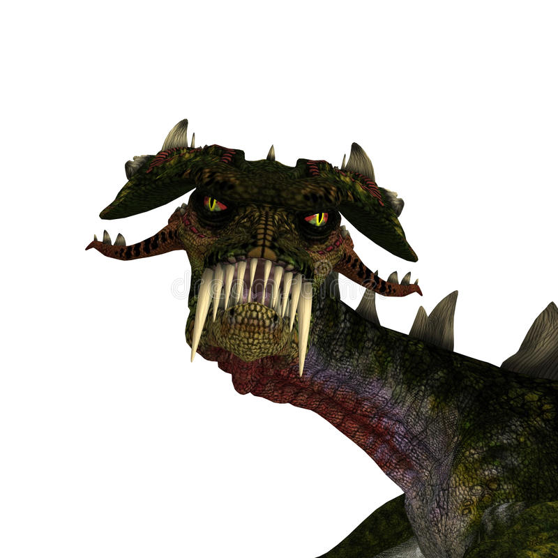 Download Giant Terrifying Dragon With Wings And Horns Stock Illustration - Image: 11269081