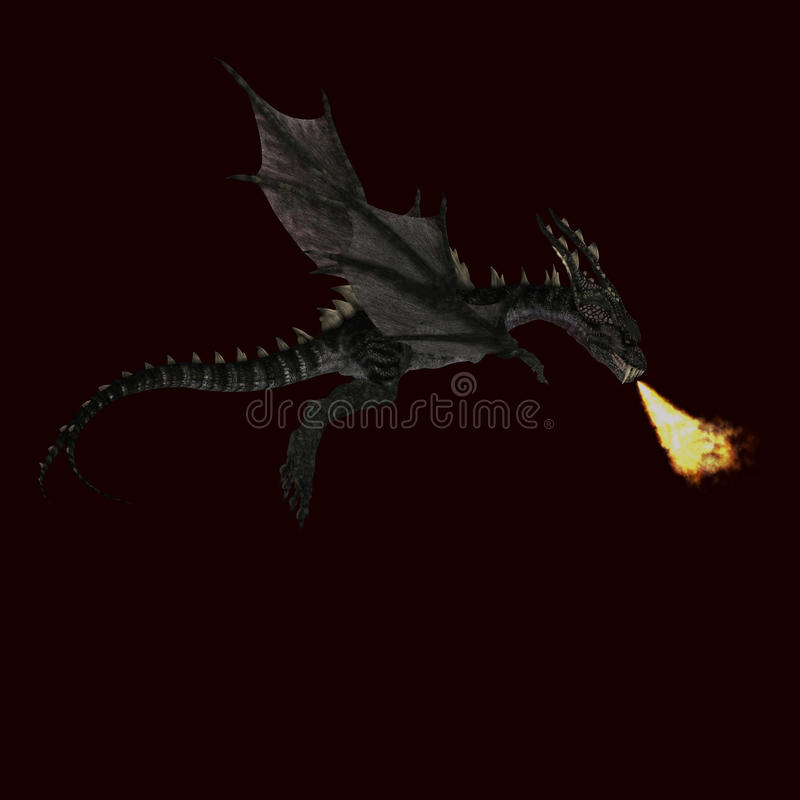 Free Giant Terrifying Dragon With Wings And Horns Royalty Free Stock Image - 11249856
