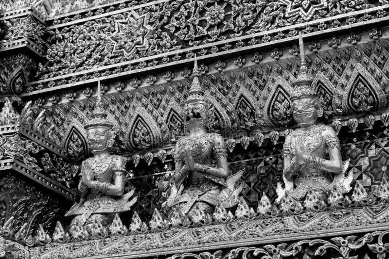 Giant of Wat Phra Kaew or Grand Palace, Bangkok, Thailand. Giant of Thailand stand in the Grand Palace, Black and White stock images