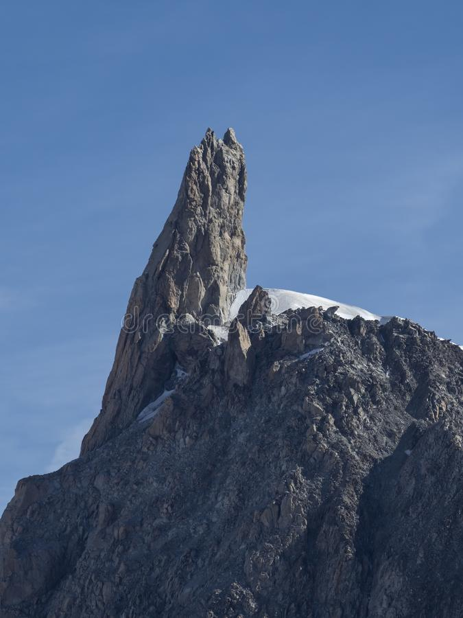 Giant tooth peak in the Mont Blanc Massif stock photos