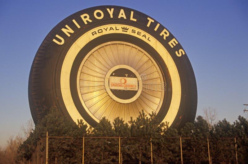 Giant Uniroyal Tire display, Detroit, MI royalty free stock image