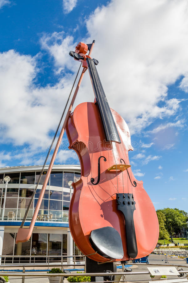 Giant Violin in Sydney royalty free stock photo
