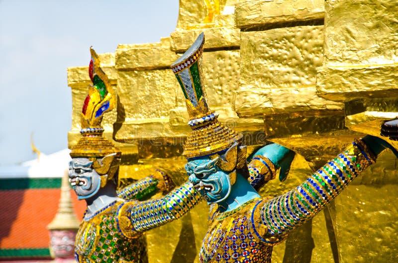 Giant of Wat Phra Kaew, Bangkok Thailand. Giant in the faith of Thai literature royalty free stock photo