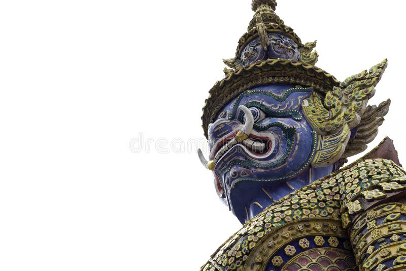 Giant in Wat Phra Kaew or name officially as Wat Phra Si Rattana Satsadaram.  royalty free stock photos