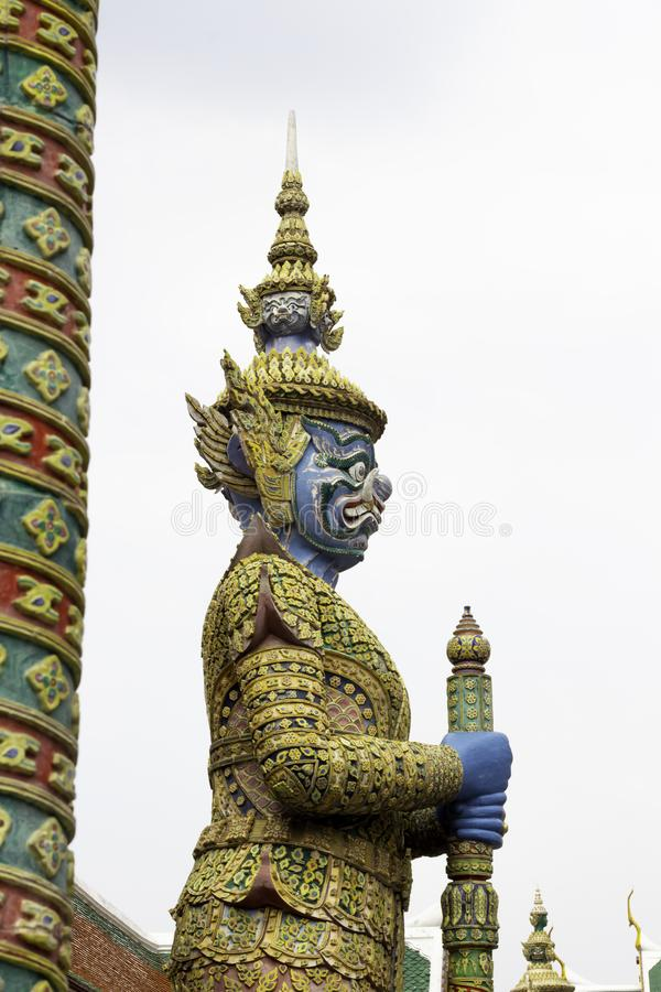 Giant in Wat Phra Kaew or name officially as Wat Phra Si Rattana Satsadaram.  royalty free stock photography
