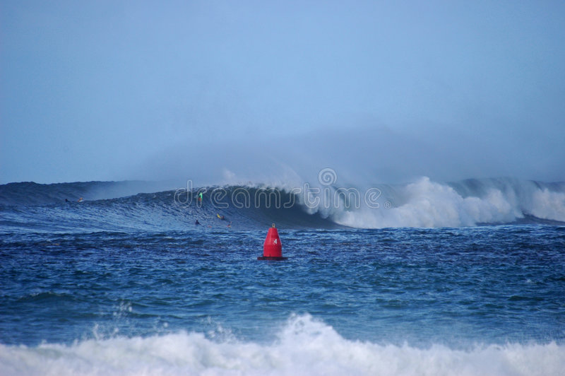 Giant Waves stock images