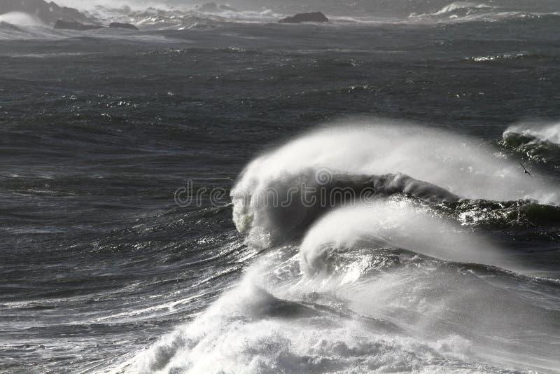 Giant waves stock photo