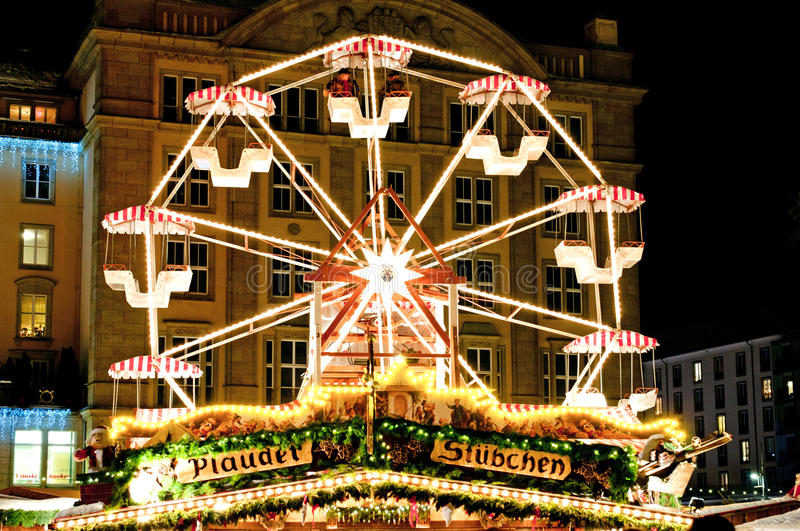 Giant Wheel at Christmas Market royalty free stock image