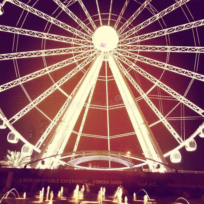 Giant wheel Sharjah corniche stock image