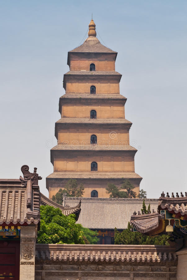 Giant Wild Goose Pagoda. Xi 'an, China royalty free stock image