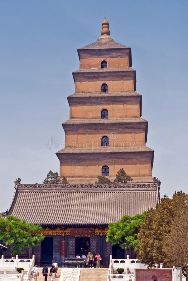 Download Giant Wild Goose Pagoda editorial stock image. Image of travel - 22928794